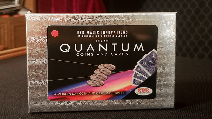 Quantum Coins (UK 10 Pence Red Card) Gimmicks and Online Instructions by Greg Gleason and RPR Magic Innovations