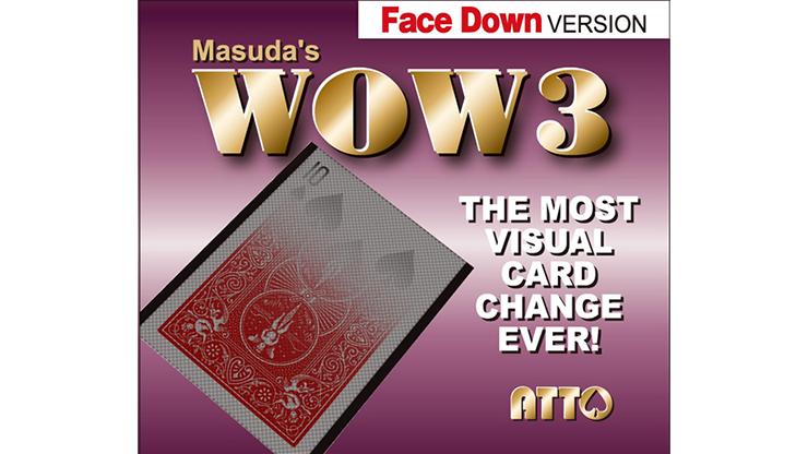 WOW 3 FaceDOWN (Gimmick and Online Instructions) - Katsuya Masuda