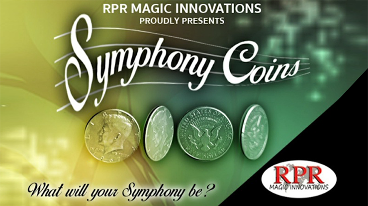 Symphony Coins (US Eisenhower) Gimmicks and Online Instructions by RPR Magic Innovations - Trick