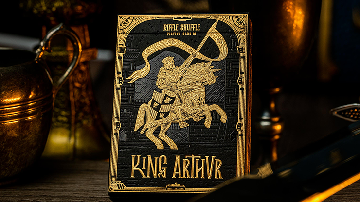 King Arthur Golden Knight (Foiled Edition) Playing Cards - Riffle Shuffle