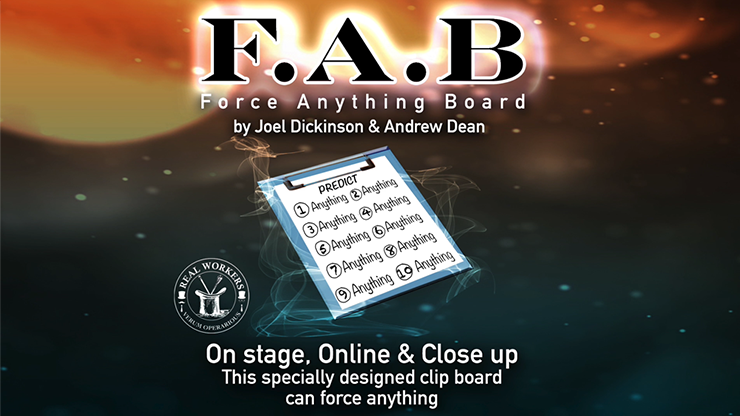 FAB BOARD A5/BLACK(Gimmicks and Online Instruction) by Joel Dickinson & Andrew Dean - Trick
