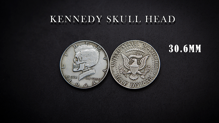 KENNEDY SKULL HEAD COIN by Men Zi  Magic