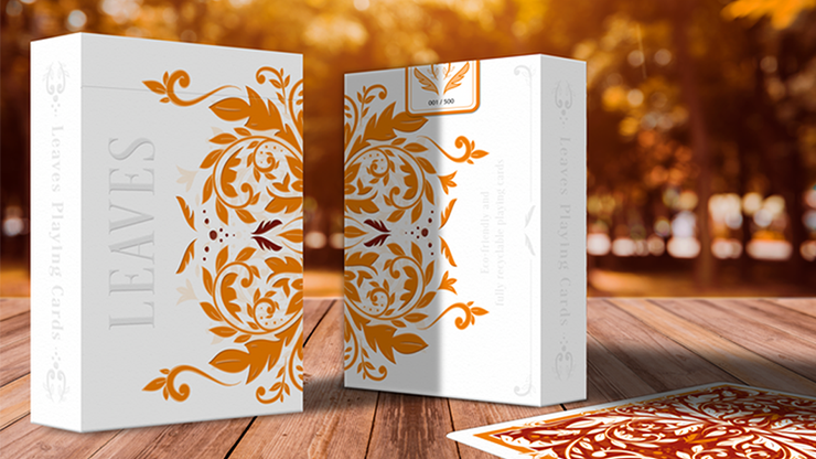 Leaves Autumn Edition Collector\'s (White) Playing Cards - Dutch Card House Company
