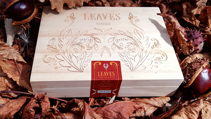Leaves Autumn Edition Collector\'s Box Set Playing Cards - Dutch Card House Company