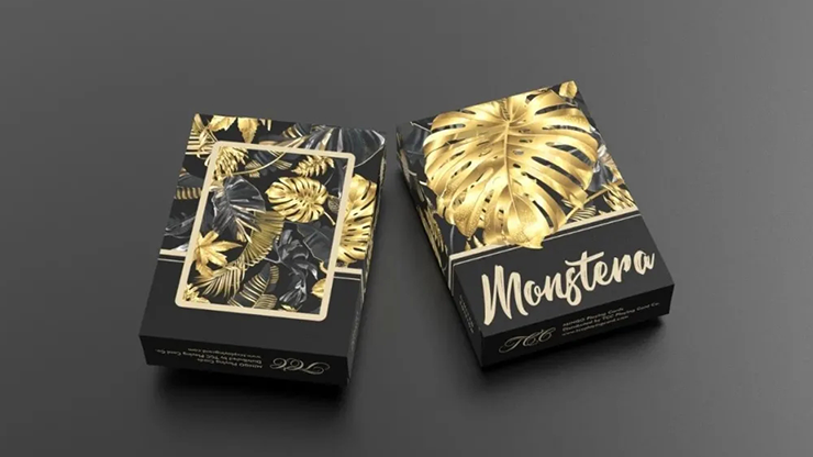 Monstera (Black) Playing Cards - TCC Presents