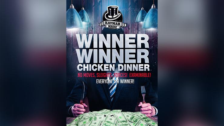 WINNER WINNER CHICKEN DINNER (Gimmicks and Online Instructions) by Kaymar Magic - Trick