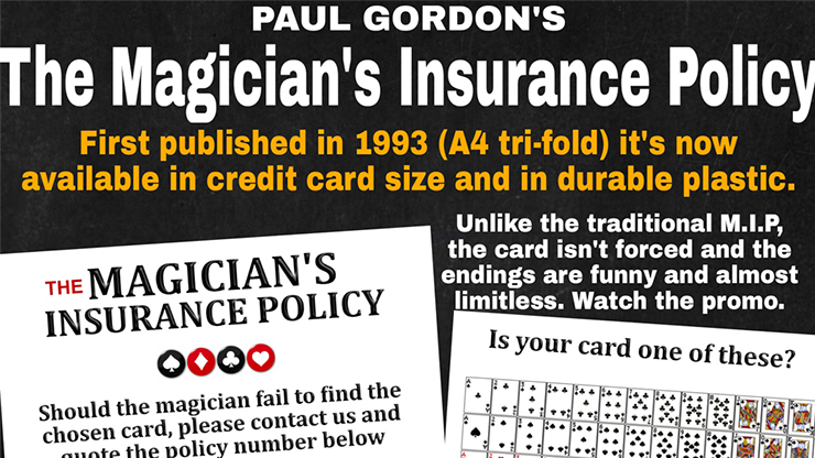 The Magician's Insurance Policy - Paul Gordon