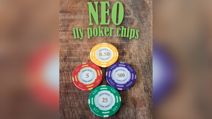 Neo Fly Poker Chips (Gimmicks and Online Instructions) by Leo Smetsers - Trick