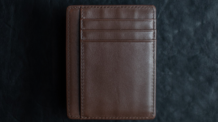 Limited Edition Shadow Wallet Bourbon Tan Leather (Gimmick and Online Instructions) - Dee Christopher and 1914