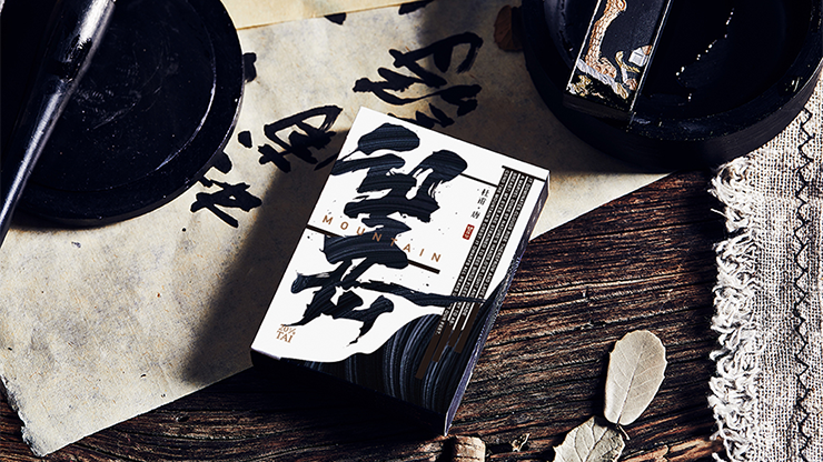 Mountain Wang Yue (Black) Playing Cards - Bocopo