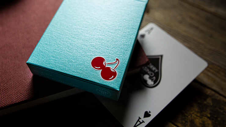 Cherry Casino House Deck (Tropicana Teal) Playing Cards by Pure Imagination Projects
