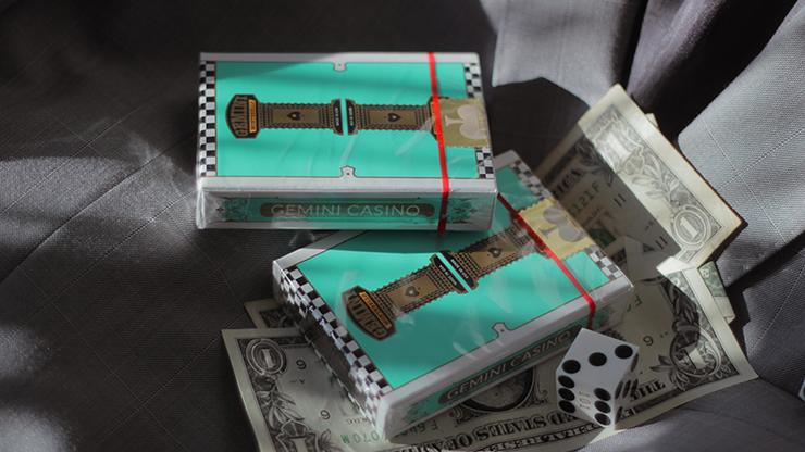 Gemini Casino Turquoise Playing Cards  - Gemini