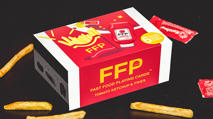 Ketchup and Fries Combo (1/2 Brick) Playing Cards - Fast Food Pl