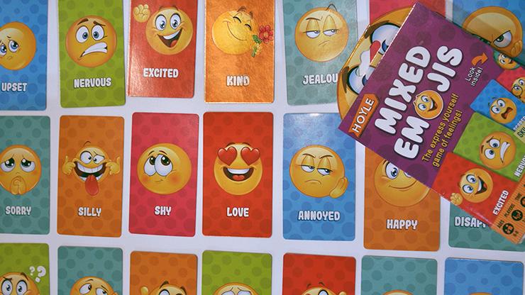 Hoyle Mixed Emojis Playing Cards - US Playing Card