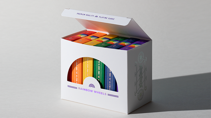 DKNG Rainbow Wheels (6 Seater Box Set) Playing Cards - Art of Play