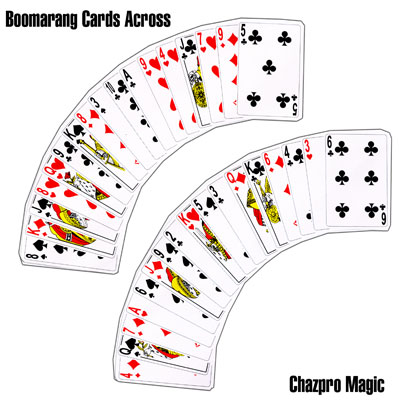 Boomerang Cards Across by Chazpro Magic