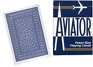 Cartas Aviator - Poker (Azul)