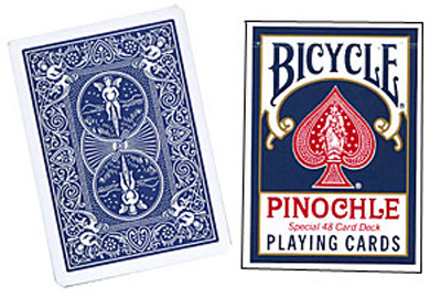 Cartas Bicycle - Pinochle Poker-size (Azul)