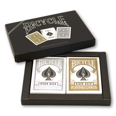 Cartas Bicycle - Oro y Plata - Back Set