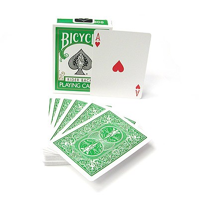 Cartas Bicycle - Respaldo Verde