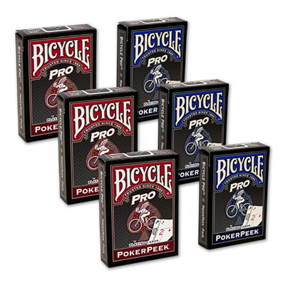 Cartas Bicycle - Pro Poker Peek - 6 PACK (Varios) USPCC