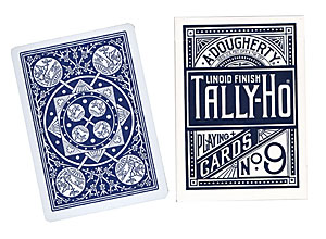 Cartas Tally Ho Fan Back Poker - Azul
