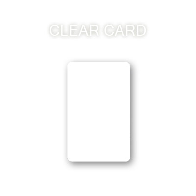 CLEAR POKER CARD
