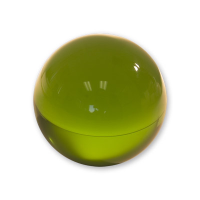 Contact Juggling Ball (Acrilico, VERDE, 76mm) - Malabares