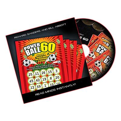 Powerball 60 (DVD, Gimmick, Euro Lotto) -  Richard Sanders & Bill Abbott de Trucos de Magia