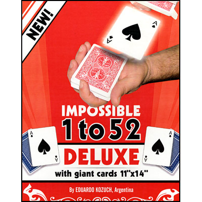 Impossible 1 to 52 Deluxe (Giant Cards) by Eduardo Kozuch - Trick