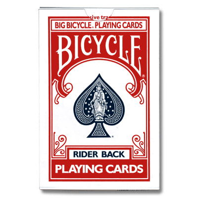 Jumbo Invisible Deck Bicycle (Red) - Trick