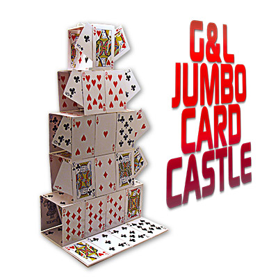 Jumbo Card Castle (Jumbo Bicycle Cards) by G&L - Trick