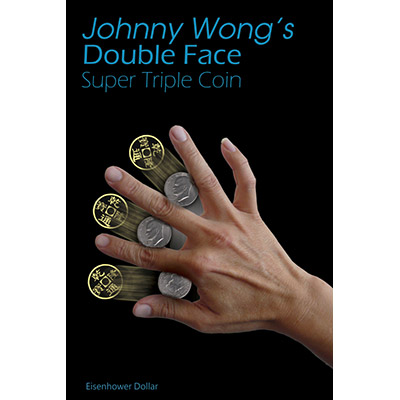 Double Face Super Triple Coin Eisenhower Dollar (with DVD) by Johnny Wong -Trick
