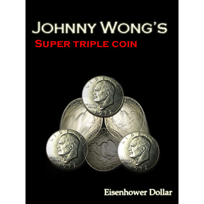 Super Triple Coin Eisenhower Dollar (with DVD) by Johnny Wong - Trick