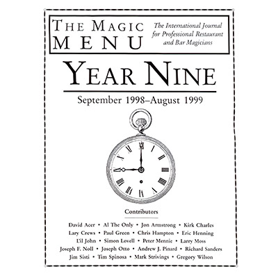 Year 9 : The Magic Menu - Libro de Magia