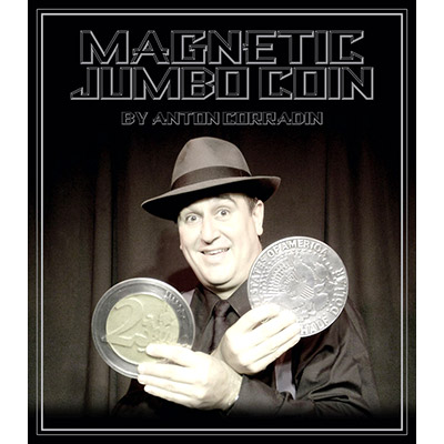 Magnetic Jumbo Coin With DVD (US Half Dollar) by Anton Corradin - Trick
