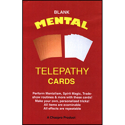 Mental Telepathy Cards (BLANK) by Chazpro Magic