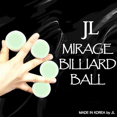 Mirage Billiard Balls by JL (GLOW IN THE DARK, 3 Balls and Shell) - Trick