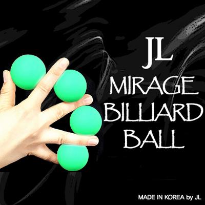 Mirage Billiard Balls by JL (GREEN, 3 Balls and Shell) - Trick