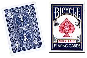 Cartas para Forzar - 1 Eleccion - 4 de Corazones - Cartas Bicycle - Azul