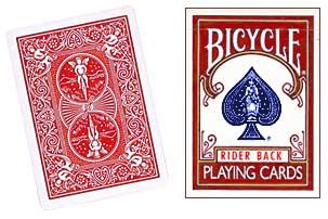 Cartas para Forzar - 1 Eleccion - 4 de Espadas - Cartas Bicycle - Rojo
