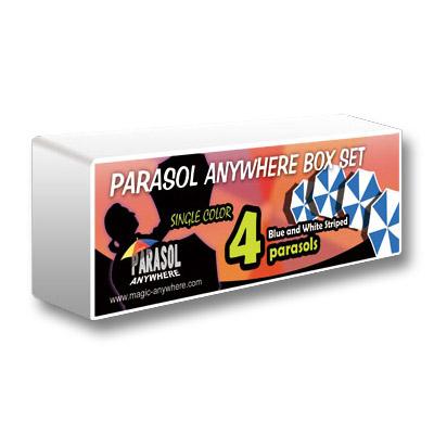 Parasol Box Set (4 Parasols, Blue And White Striped) - Trick