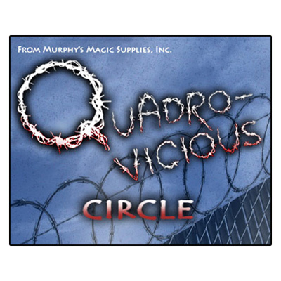 Quadro Vicious Circle Linking Rings by Murphys Magic Supplies