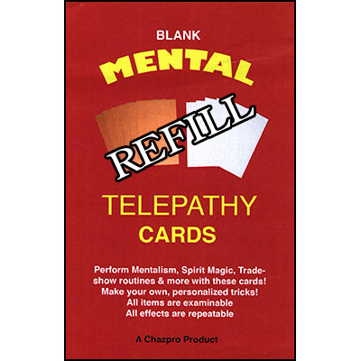 Refill (BLANK) Mental Telepathy Cards by Chazpro Magic