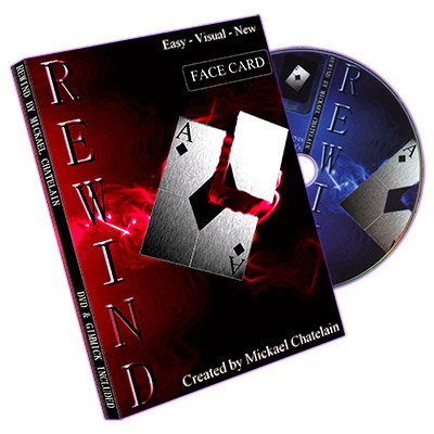 Rewind (Gimmick, DVD, FACE card, BLUE back) by Mickael Chatelain - Trick