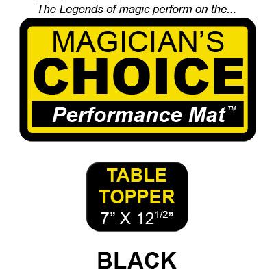 Table Topper Tapeta para Trucos de Magia Close-Up (NEGRO - 17.75x31.75 cm) - Ronjo