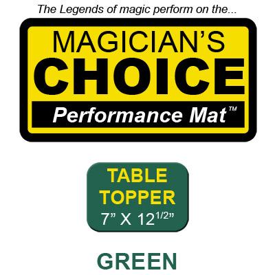 Table Topper Tapeta para Trucos de Magia Close-Up (VERDE - 7x12.5) - Ronjo