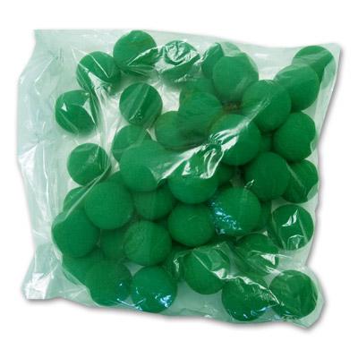 50 Bolas de Esponja Super Suave - 1.5 Pulgadas (Verde)