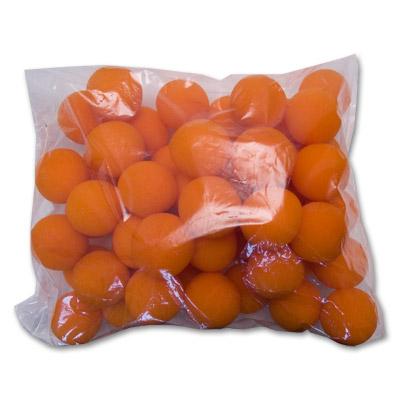 50 Bolas de Esponja Super Suave - 2 Pulgadas (Naranja)