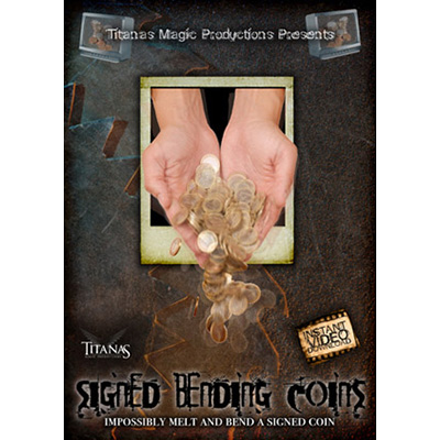 Signed Bending Coins by Titanas - Streaming Video